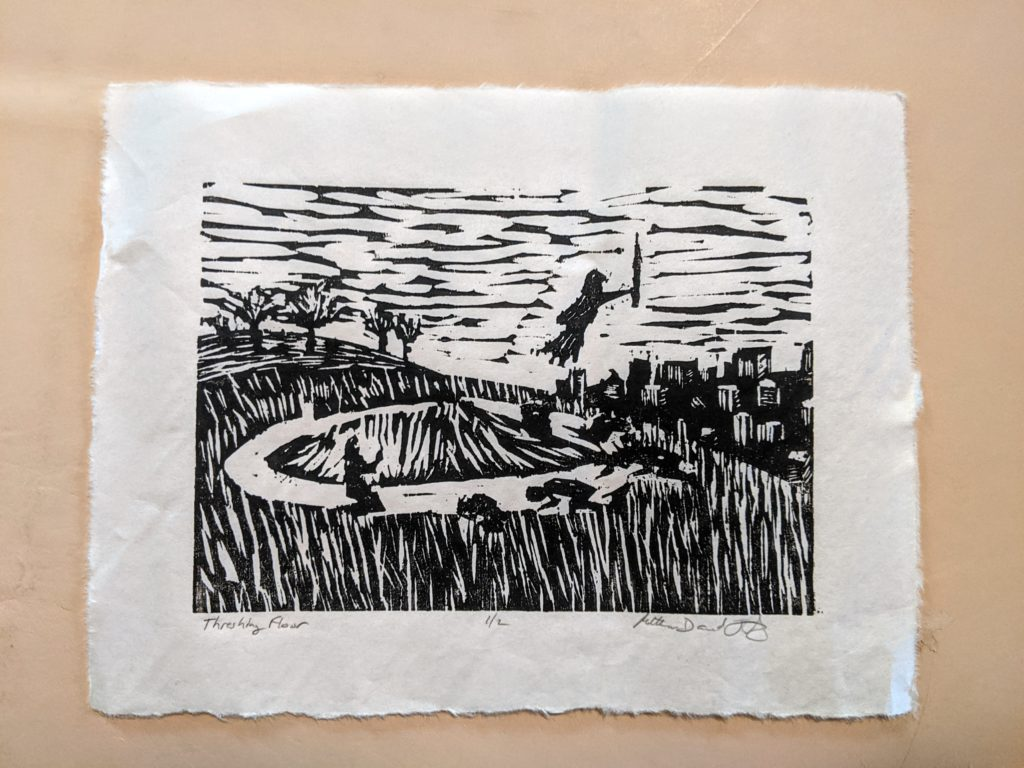 Threshing Floor print